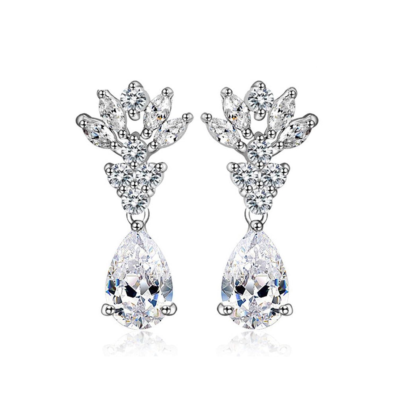 Amazon Drop Earrings Cubic Zirconia Diamond Rhinestone Stud