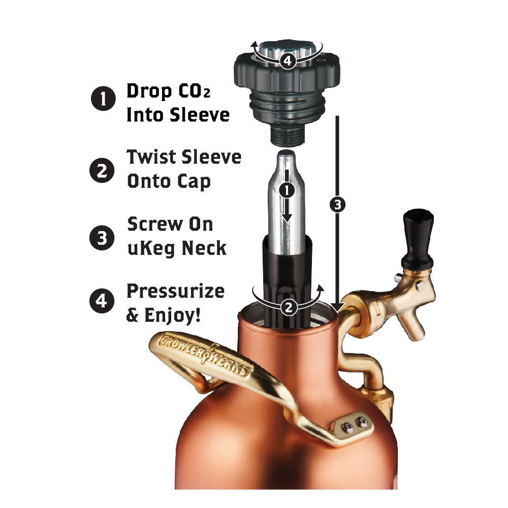 uKeg 64 Pressurized Growler for Craft Beer - Copper by GrowlerWerks (Image #5)