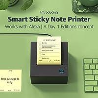 Smart Sticky Note Printer Works with Alexa