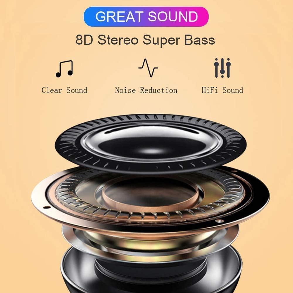 Bluetooth Kopfh/örer,In-Ear Kabellose Kopfh/örer,Bluetooth Headset,Sport-3D-Stereo-Kopfh/örer,mit 24H Ladek/ästchen und Integriertem Mikrofon Auto-Pairing f/ür Samsung//iPhone11//Android//Airpod