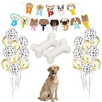 Lovely Bone Shape Foil Balloon Pet Dog Bone Balloons Birthday Party DecorationTC