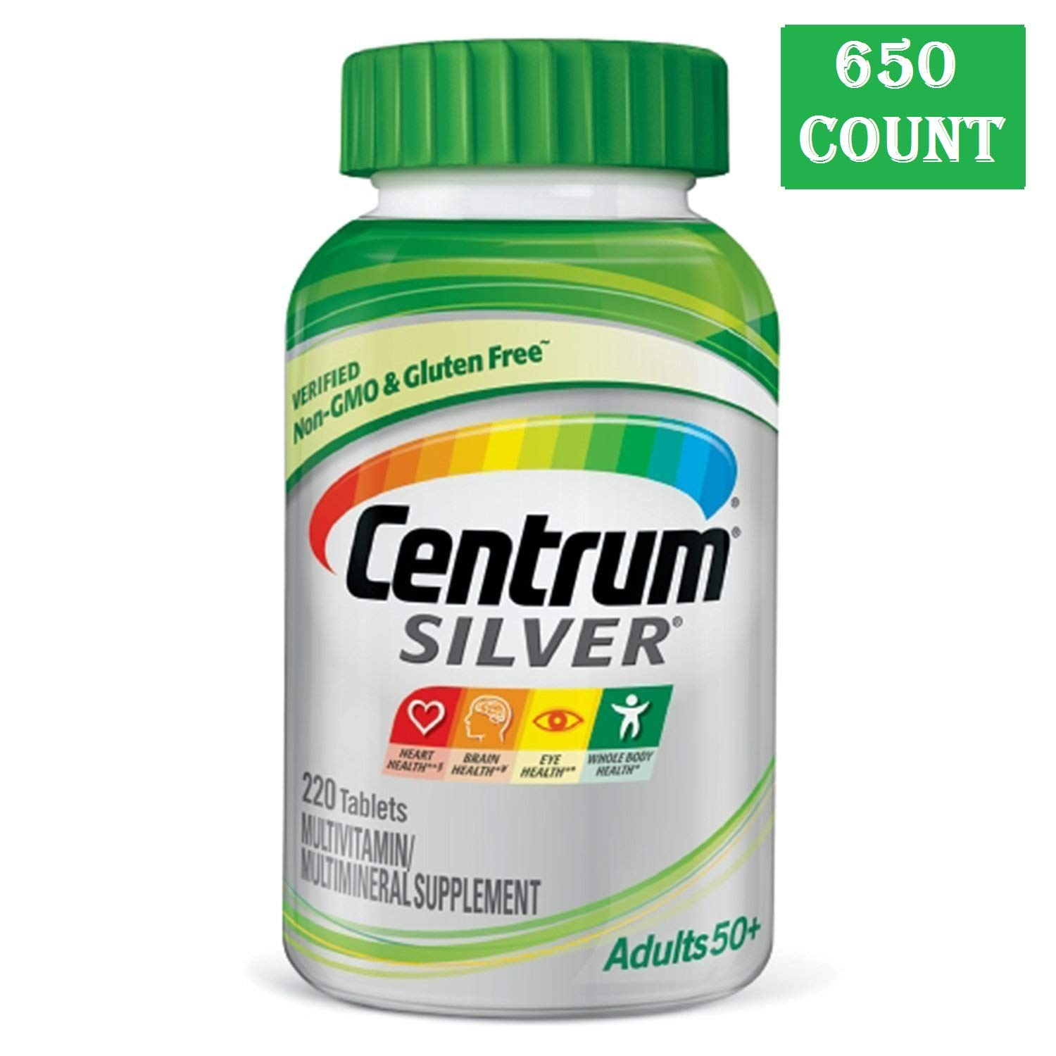 Centrum Silver Adult (650 Count) Multivitamin/Multimineral Supplement Tablet, Vitamin D3, Age 50+ (650 Count)