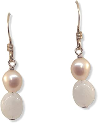 Gold Peach Moonstone Dangle earring,Drop earring,Peach earring,Gemstone earring,Bridesmaid gift,Pear drop earring,Silver 925 earring,bohochi