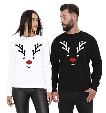 Partner Pullover Weihnachten.Cold Heartless Parchen Pullover Set Rudolph Zu Weihnachten