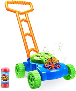 Bubble Mower ,Baby Lawn Mower ,Baby Toys 12-18 Months Electronic Outdoor Push Toys Gifts for Baby Boys Girls