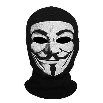innturt Vendetta máscara de tela capucha pasamontañas cara de Cosplay, Vendetta-Full Mask