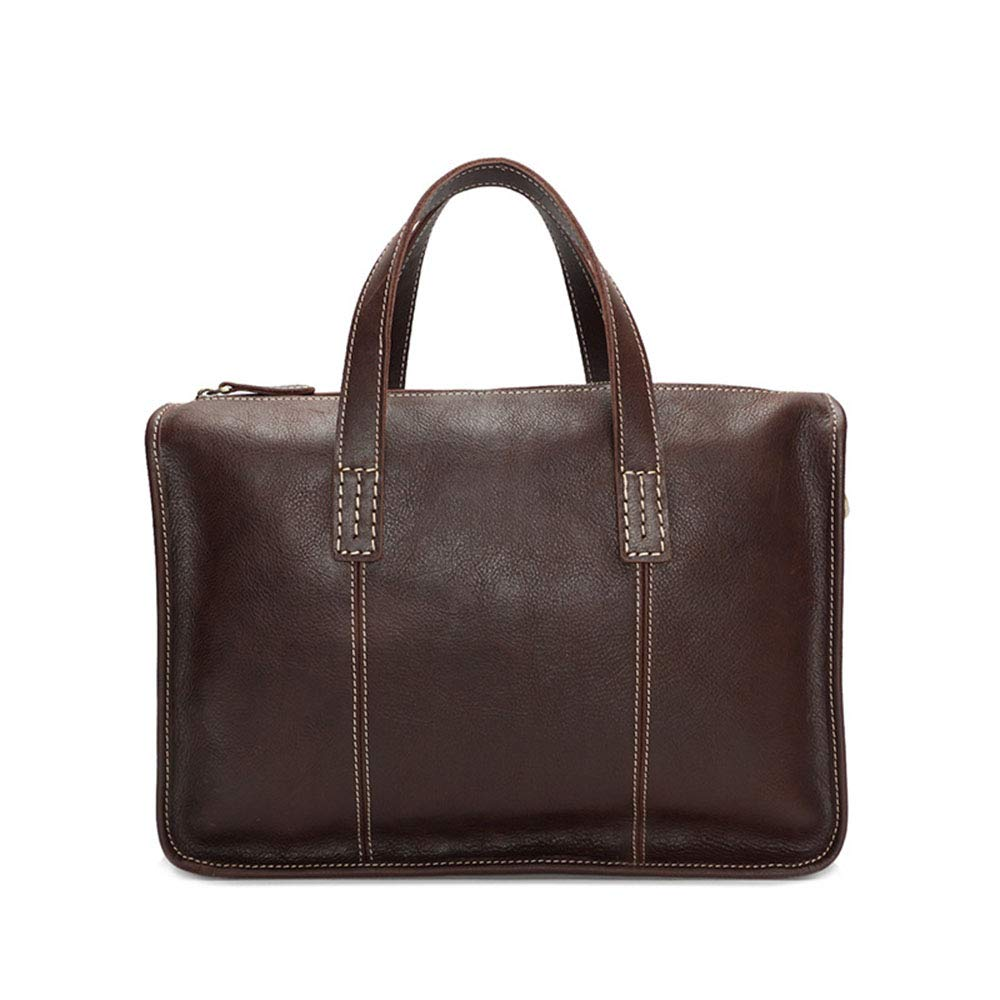 Color : Coffee FeliciaJuan Mens Laptop Briefcase Business Messenger Bag Multi-Function Structure Bag