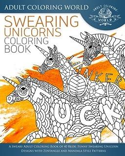 Amazon Com Swearing Unicorn Coloring Book Midnight Edition An