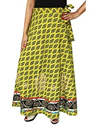 Maple Clothing Long Wrap Skirt Cotton Long India Maxi Printed Indian Apparel