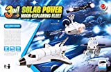 Lulong 3 in 1 Solar Power Toys kit Moon-Exploring Fleet Solar Robot Alpinia Oxyphylla Puzzle Assembly Toy Kits