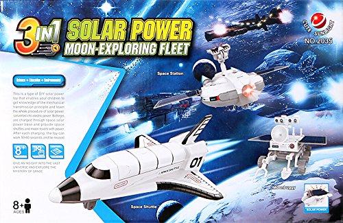 Lulong 3 in 1 Solar Power Toys kit Moon-Exploring Fleet Solar Robot Alpinia Oxyphylla Puzzle Assembly Toy Kits by Lulong