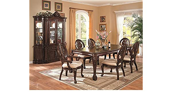 Amazon Tabitha 7 Piece Dining Set With Hutch And Buffet Kitchen