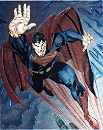 Superman Foil Stamped Litho Print Sold Out Edition DC Comics