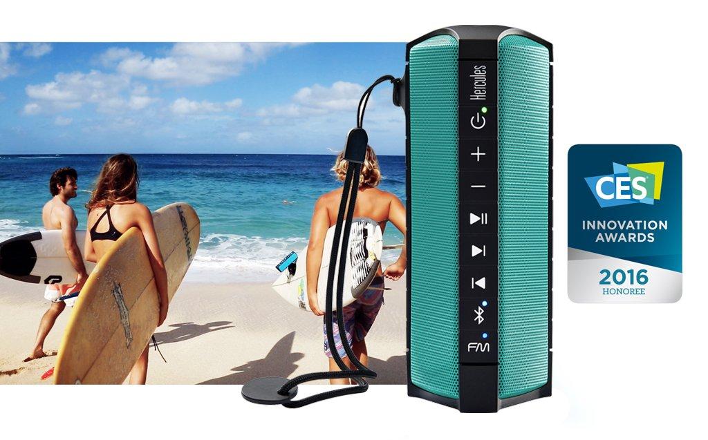 Altoparlante Bluetooth portatile senza fili impermeabile//Oceanproof con radio FM integrata Hercules WAE Outdoor RUSH