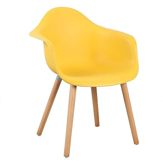 WOLTU® BH37gb 2 Esszimmerstühle 2er Set Esszimmerstuhl Mit Lehne Design  Stuhl Küchenstuhl Holz Gelb: Amazon.de: Küche U0026 Haushalt