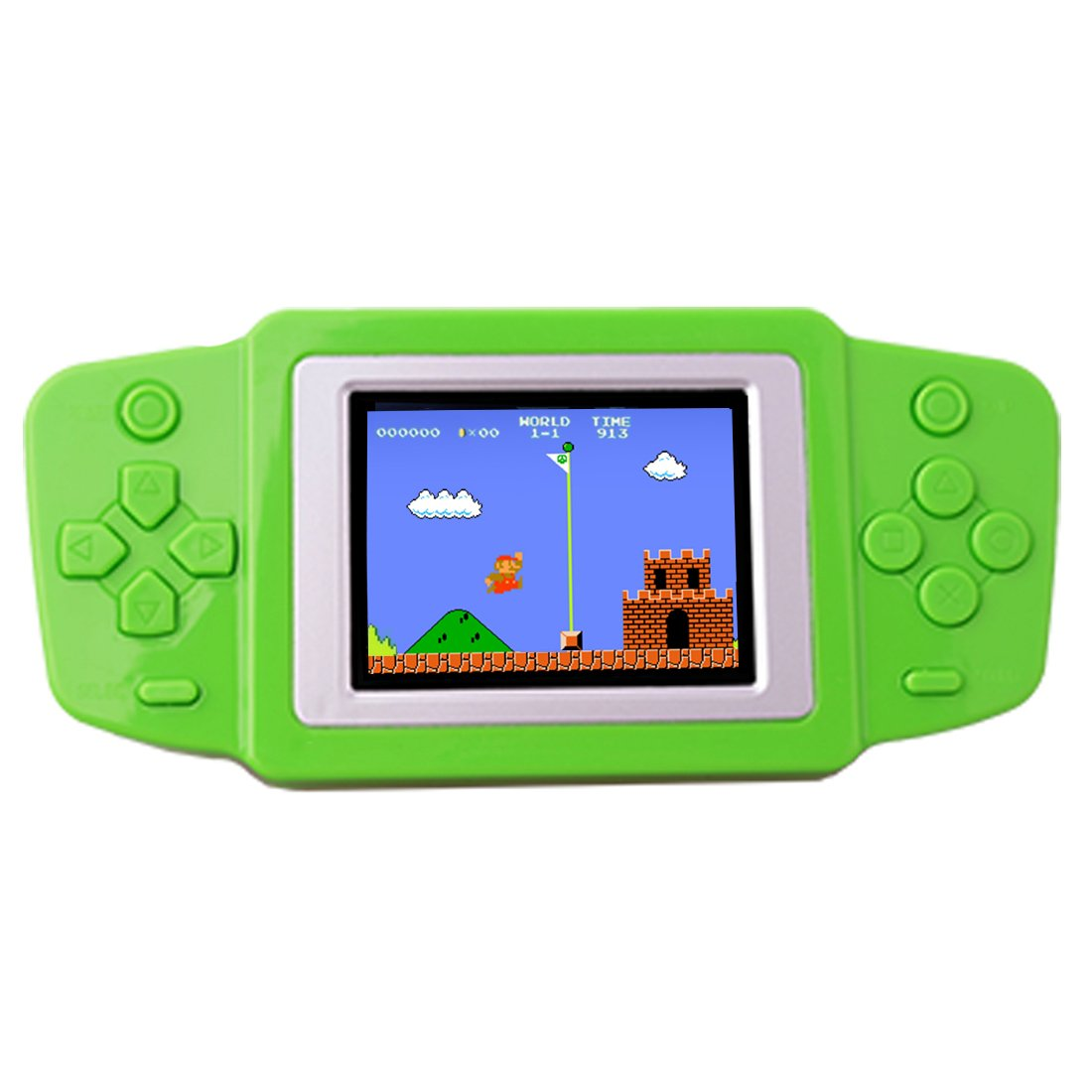 ZHISHAN Kids Retro Handheld Game Console Portable Game Player Built in 269 Classic Old Style Video Games with 2.5'' LCD Screen Boy Arcade Gaming System Unique Gift for Children (Green)