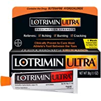 Lotrimin Ultra 1 Week Athlete's Foot Treatment, Prescription Strength Butenafine Hydrochloride 1%, Cures Most Athlete?s…