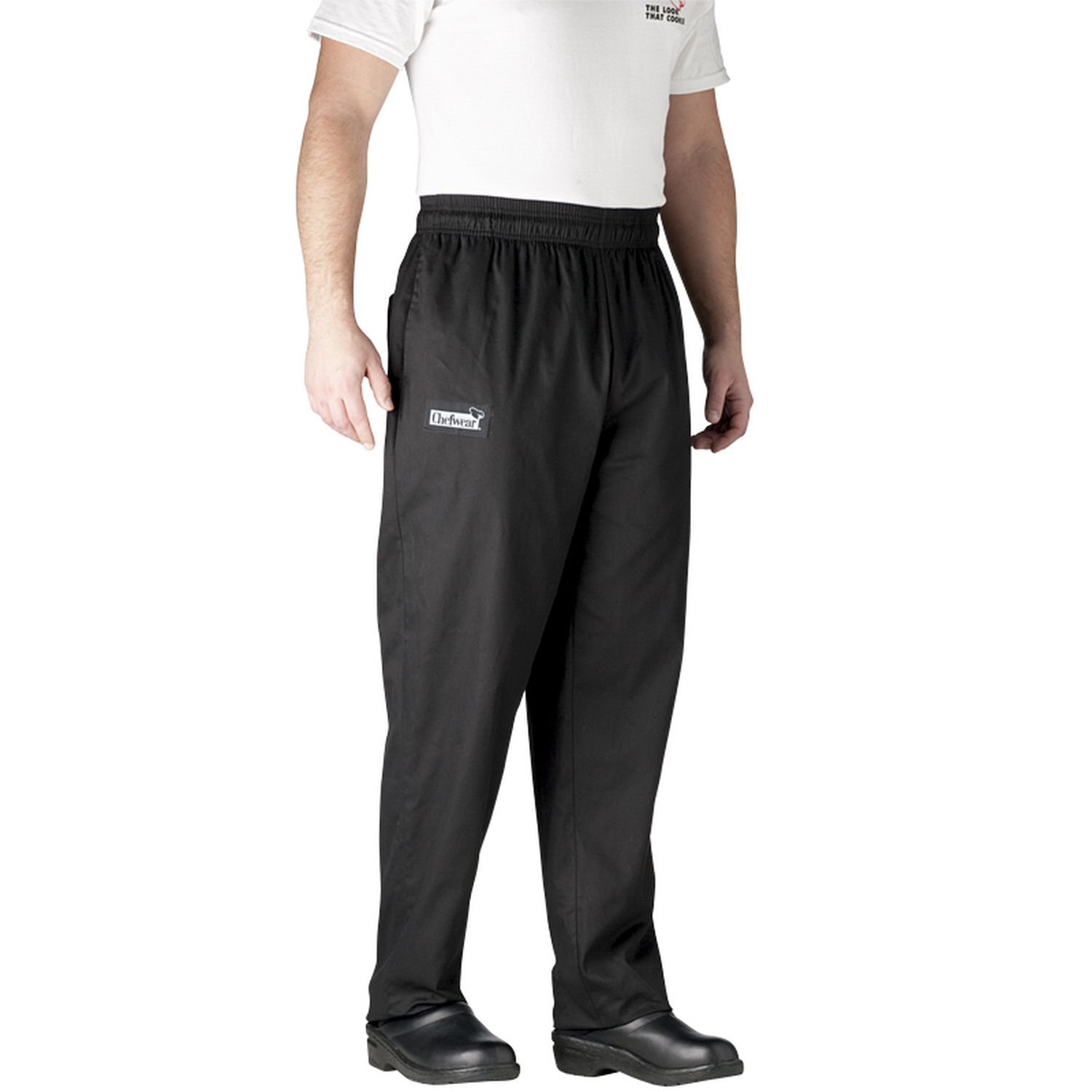 Chefwear Men's Ultimate Cotton Baggy Chef Pants Big, Black, 4X-Large by Chefwear