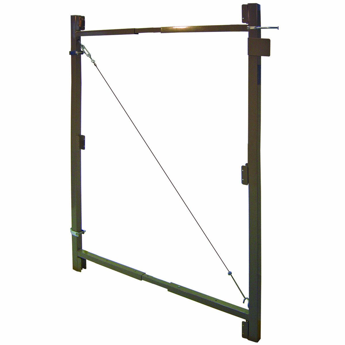 Fence Walk Through Gate Kit - Adjust-A-Gate Steel Frame No Sag Gate Building Kit - This anti-sag gate kit is perfect for repairing existing sagging gates or building new ones. (36''-60'' wide openings up to 7' high fence) by Adjust-A-Gate