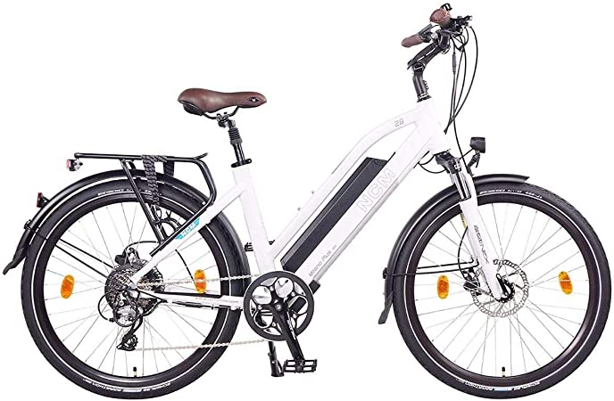 Ncm milano plus bicicletta elettrica da trekking, 250w, batteria 48v 16ah 768wh 28