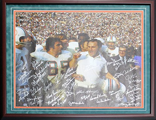 - 1972 Miami Dolphins Autographed Framed Canvas (Mounted Memories)