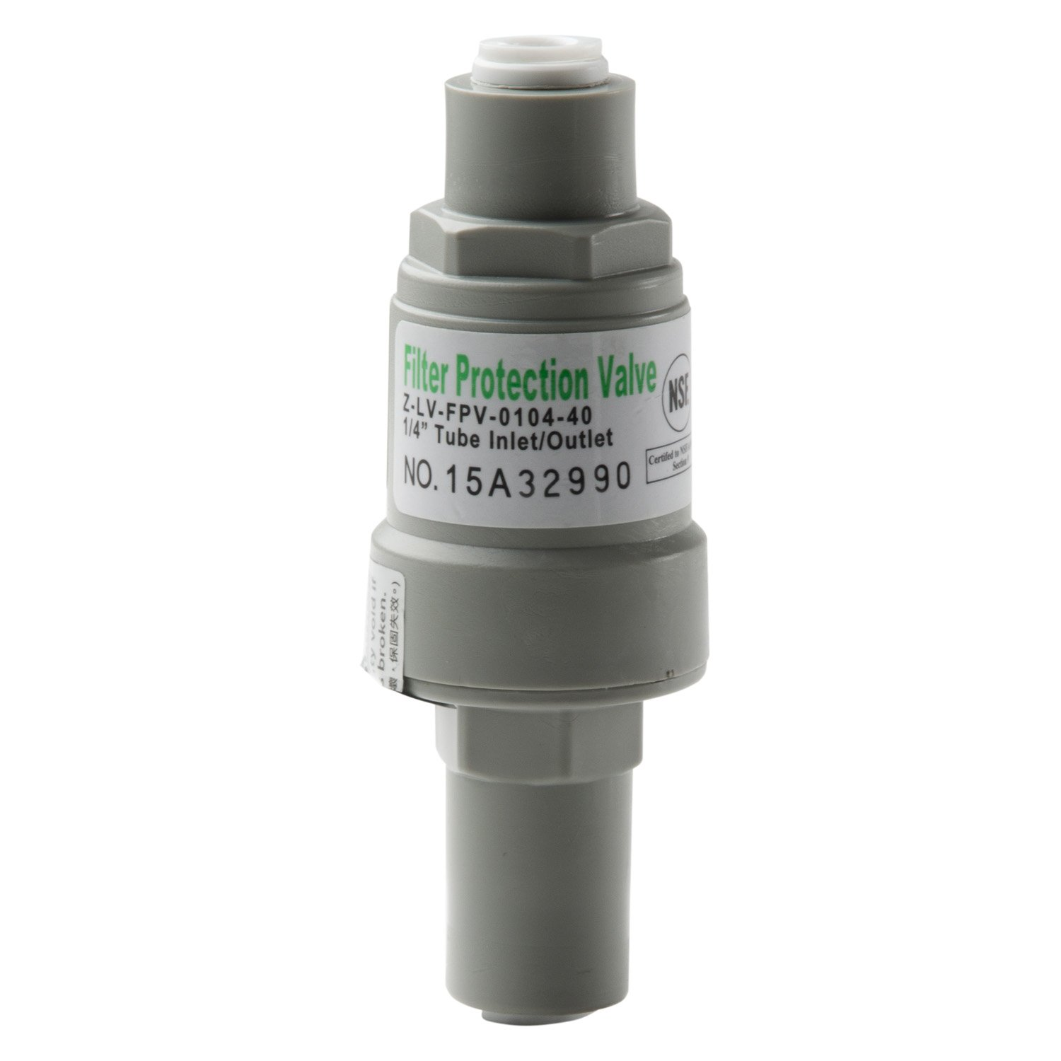 "iSpring APR40 Pressure Regulator Filter Protection Valve with 1/4"" Quick Connect, 40 Psi white"