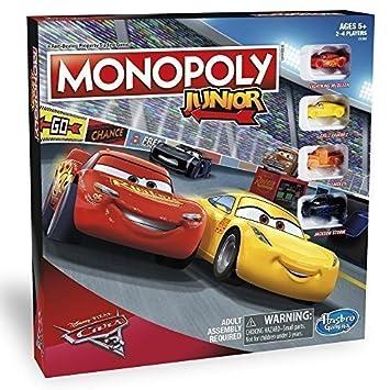 Disney Cars 3 Monopoly Junior Nuevo Amazon Es Juguetes Y Juegos