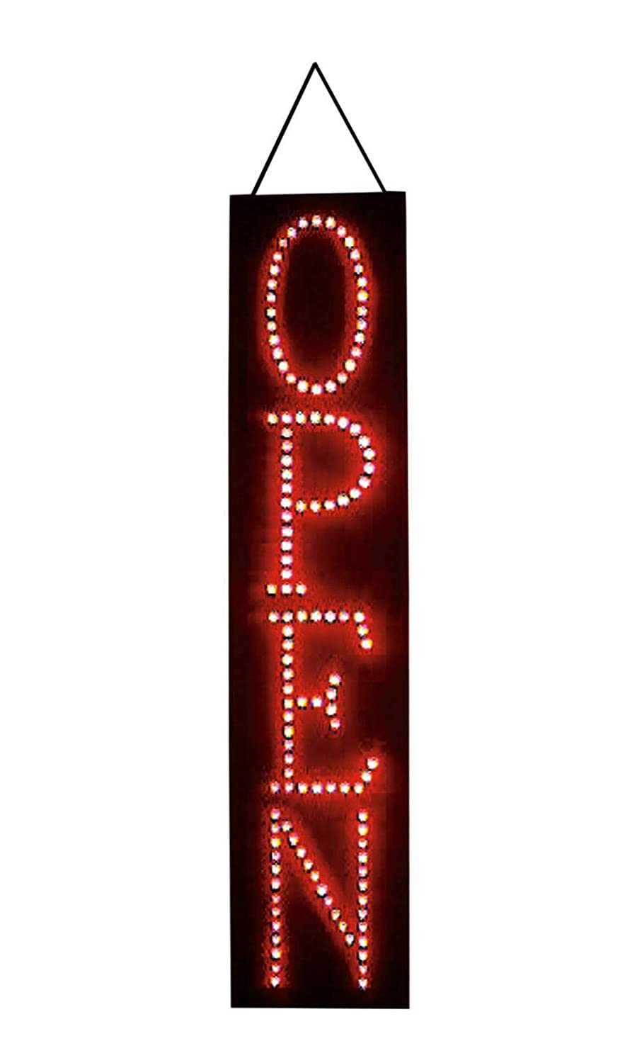 Buy All Store Open Sign Red LED 6 x 27 x 1 ⅜ Thick Vertical Stationary Soild or Flashing