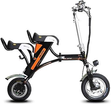 Daxiong Bicicleta eléctrica de Litio Mini Plegable Mujer Doble ...