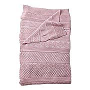 Ethan Allen | Disney Sweater Stitch Knit Stroller Blanket, Petal Pink