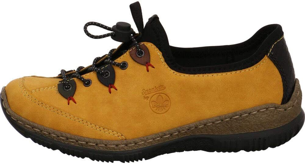 Rieker N3271 dames sneaker Honing/Forest/Pazifik/Brandy/zwart/zwart 68