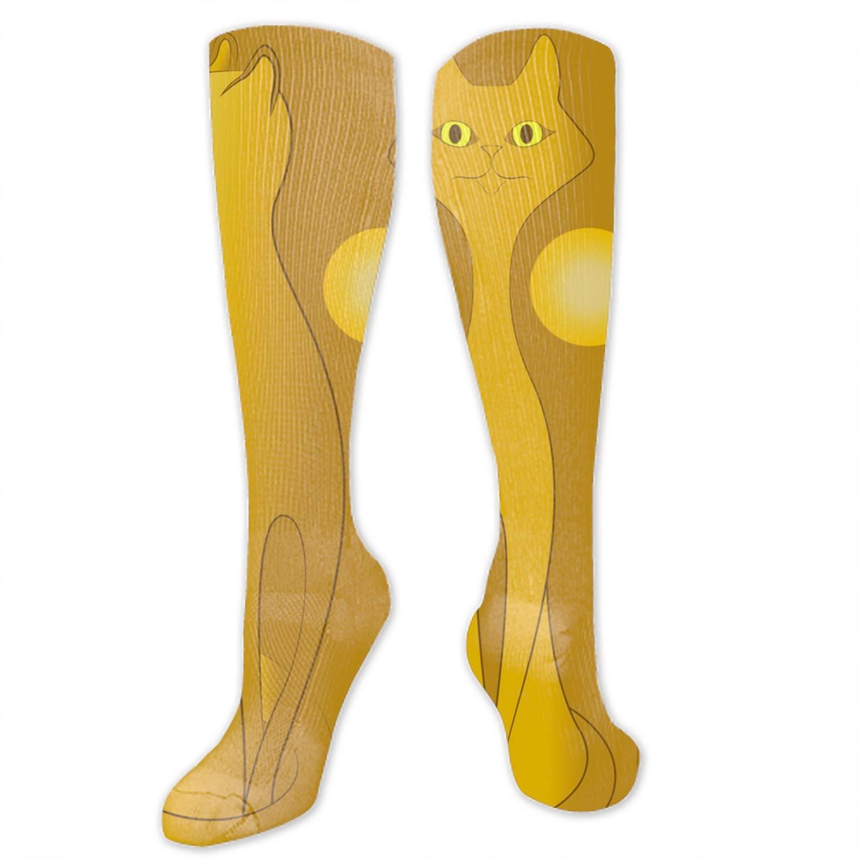 Unisex High Long Socks Painting Digital Cats Paw Print Casual Sport Stocking Cotton