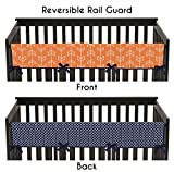 Sweet Jojo Designs Baby Crib Long Rail Guard Cover for Orange and Navy Arrow Print Bedding Collection