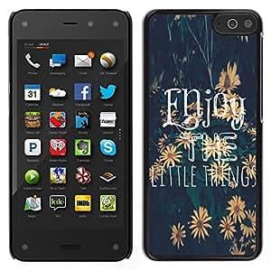 LECELL--Funda protectora / Cubierta / Piel For Amazon Fire Phone -- El texto pequeñas cosas Girasol --
