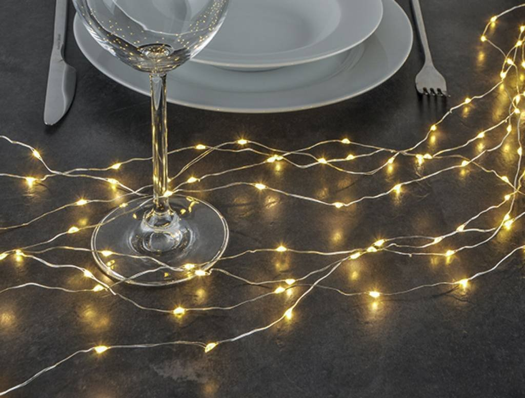 Lichterb/ündel Kupferdraht formbar mit 160 warmweissen LEDs 76639