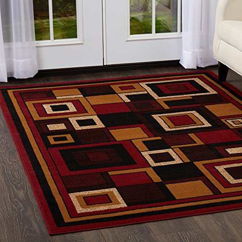 Home Dynamix Premium 7543-200 Polypropylene 7-Feet 8-Inch by 10-Feet 7-Inch Area Rug, Red