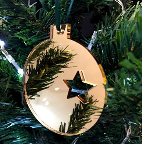 Super Cool Creations Bola Estrella Adornos para Árbol De Navidad ...