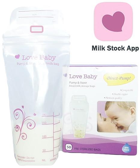 Bolsas de almacenamiento de leche materna con aplicación de ...
