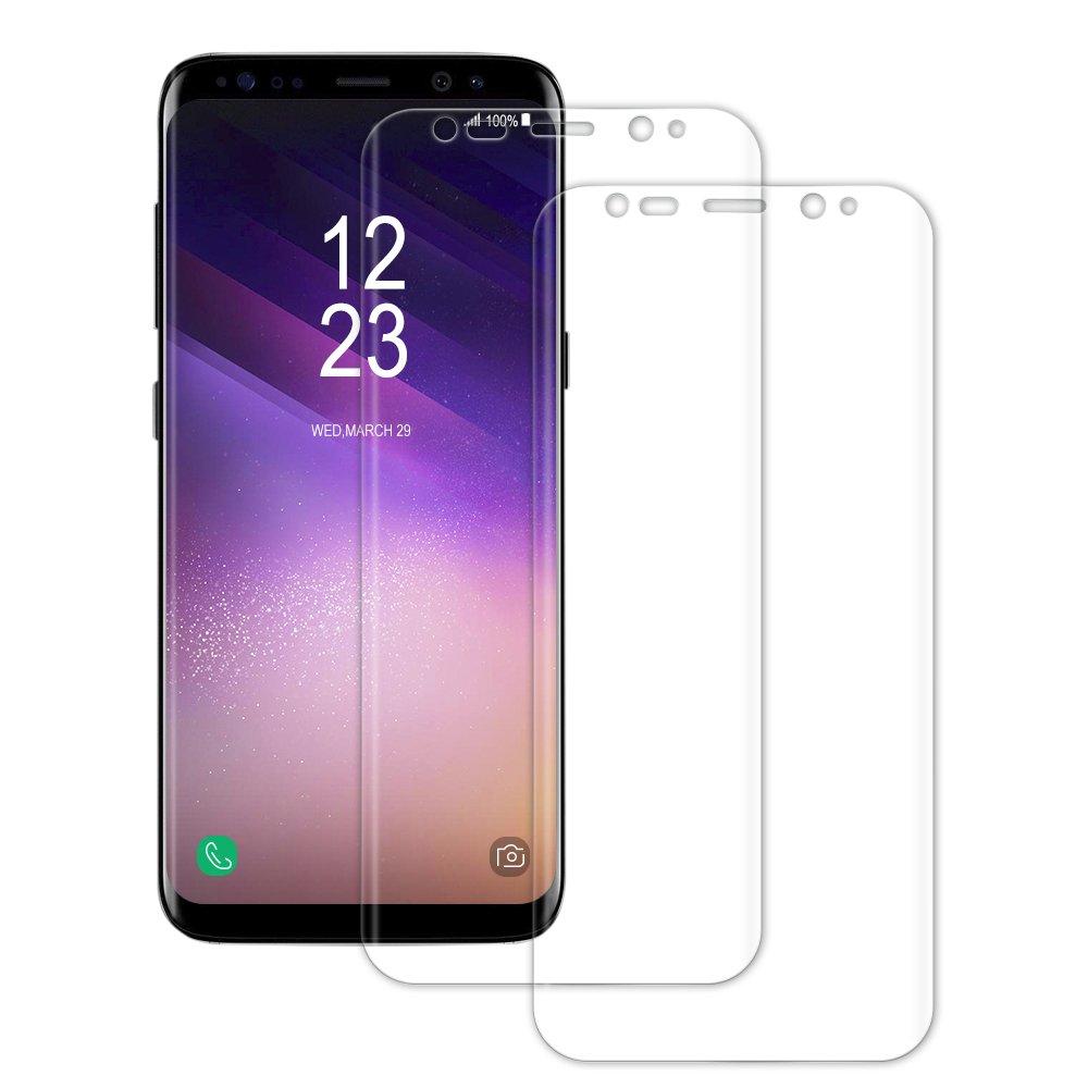 [2 Pezzi] Senisttech Pellicola Protettiva per Samsung Galaxy S8 -0,33mm HD ad alta trasparenza 3D compatibile - protezione perfetta contro graffi, acqua, vibrazioni e impronte digitali
