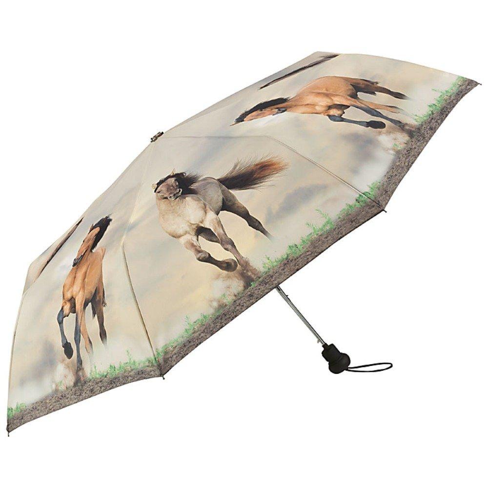 VON LILIENFELD/® Ombrello Tascabile Automatic Donna Cavalli selvatici