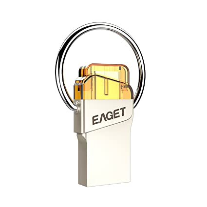 Eaget USB Flash Drive 16 GB 32 GB 64 GB Llavero de metal ...