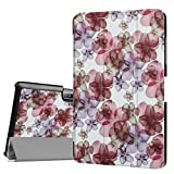 Acer Iconia One 10 B3-A30 DETUOSI ® Flip Case Cover - [Scratch Resistant][Luxury PU Leather] Leather Cover for Acer Iconia One 10 B3-A30 10-Inch,Built-in Stand with Multiple viewing Angles-Flower