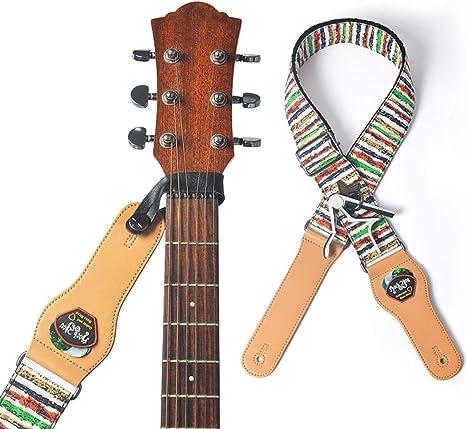XuBa - Correa para guitarra, longitud ajustable, vintage, para ...