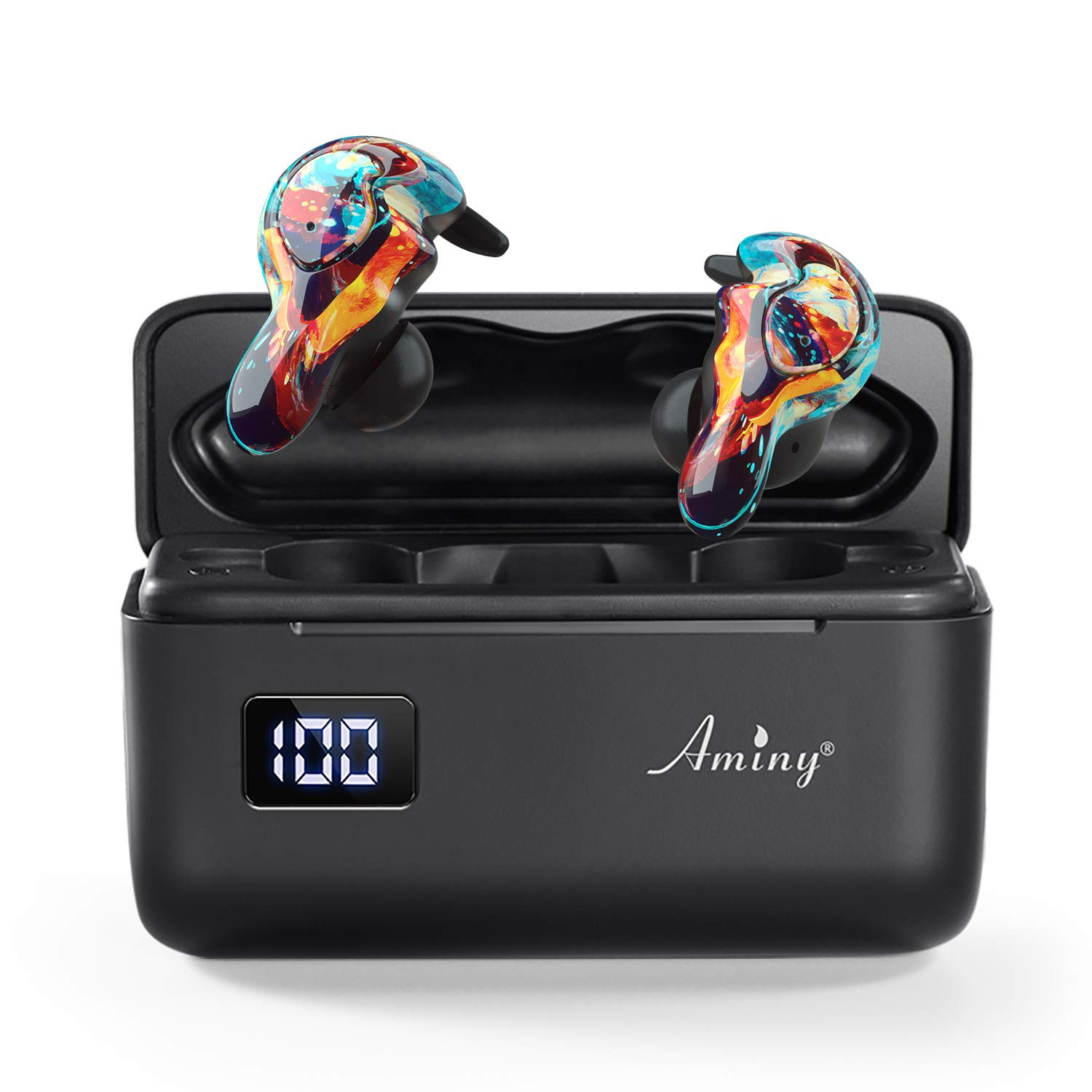 Auriculares Earbuds Inalambricos AMINY Waterproof IPX7 Firew