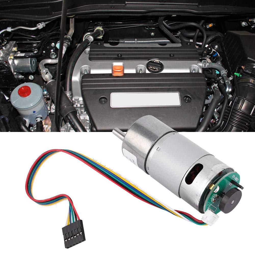 Motoriduttore DC 12 24V 10-1500RPM Motoriduttore con riduzione della velocit/à di torsione grande con encoder Power Reduction Motor Albero di uscita eccentrico cambio diametro 37mm 24V 1000RPM