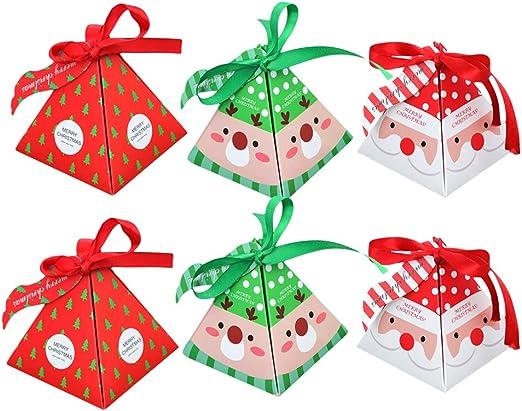 LPxdywlk 6 Piezas Caja De Dulces De Navidad Caja De Regalo De ...