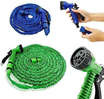 AS YOUR WISH Deluxe 25 50 75 100 pies Extensible Flexible Agua para jardín Manguera W/Aerosol Boquilla: Amazon.es: Jardín