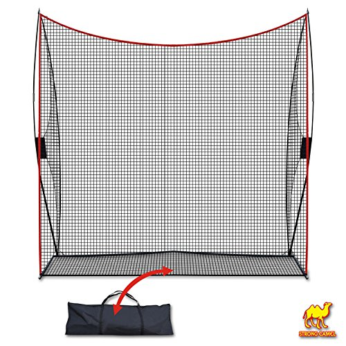 Strong Camel Portable 10'x9'x3' Golf Net Practice Hitting Net Training Driving Indoor Outdoor by Strong Camel