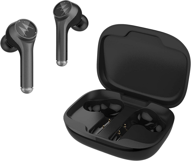 Motorola Lifestyle VerveBuds 800 - Auriculares Inalámbricos , Bluetooth 5.0 - Waterproof IP54 - Cancelación de ruido - 18 Horas - Compatible con Alexa, Siri y Google Assistant, Negro