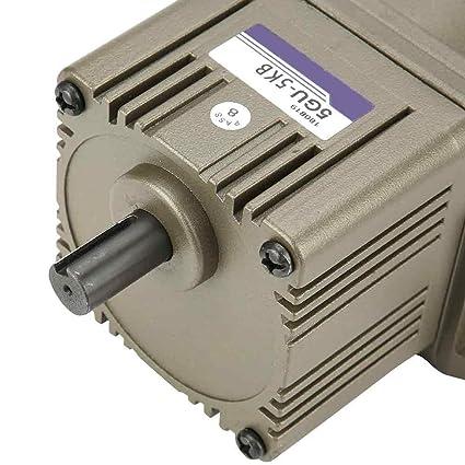 5K Desaceleraci/ón asincr/ónica monof/ásica del motor de engranaje motor del reductor de la velocidad lenta de poco ruido de la CA 220V 90W para el motor de la barbacoa
